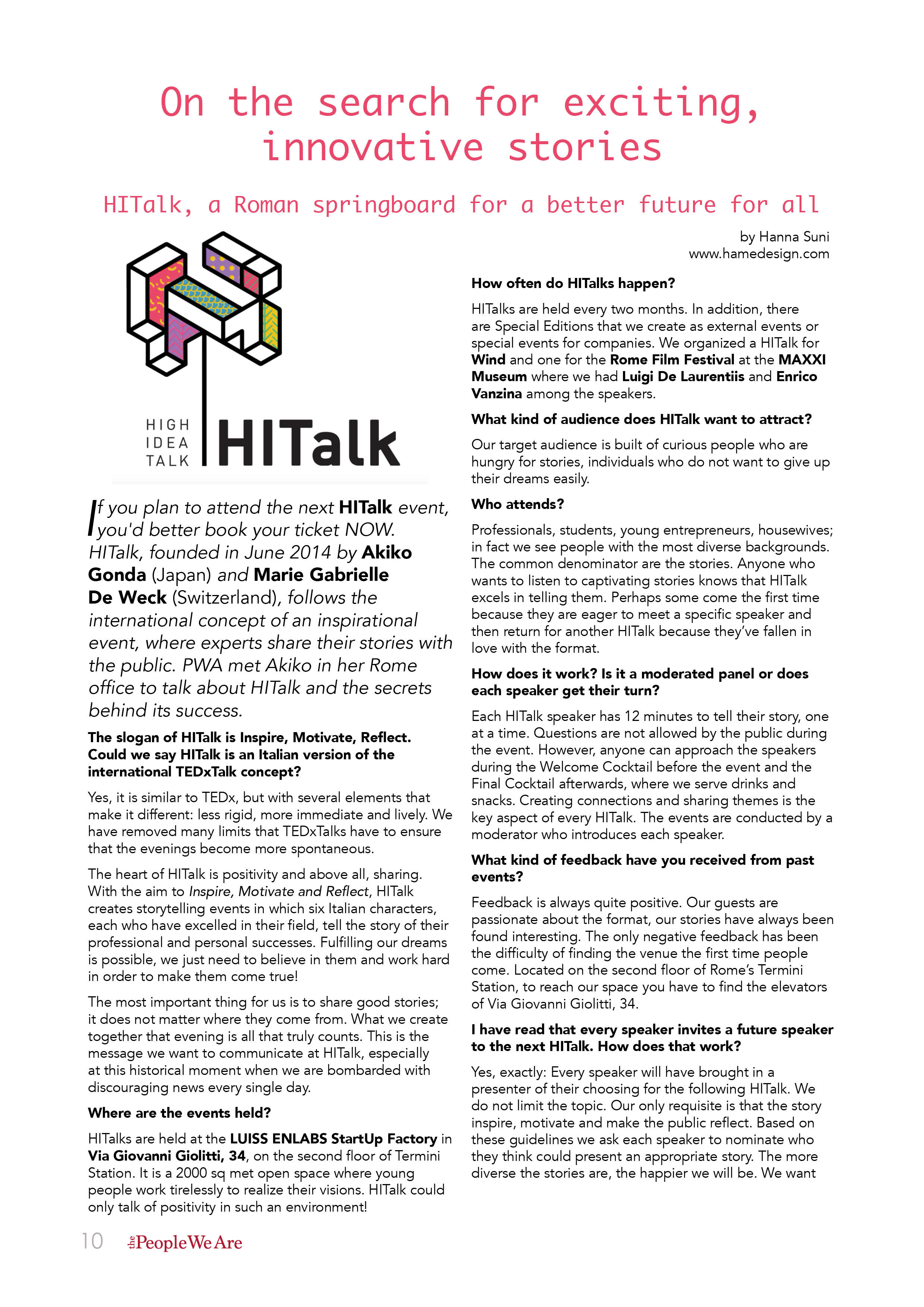 The People We Are January 2016 HITalk10